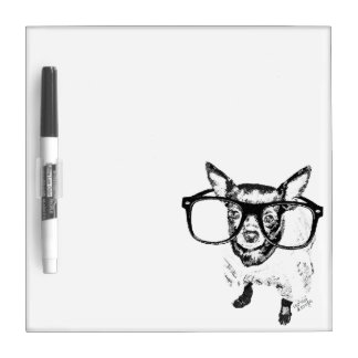 Chihuahua Dog Illustration Drawing Dry Erase Board