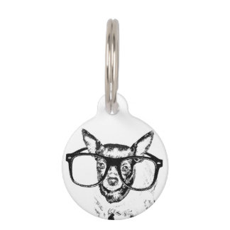 Chihuahua Dog Illustration Drawing Pet Tag