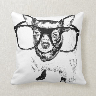 Chihuahua Dog Illustration Drawing Throw Cushion