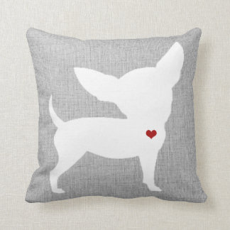Chihuahua Dog Lover Heart Pet Throw Pillow