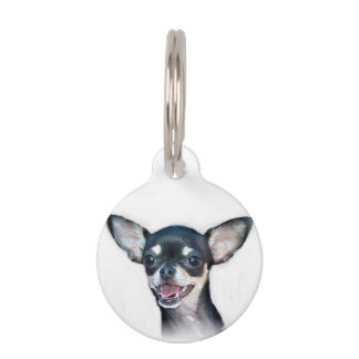 Chihuahua dog pet ID tag