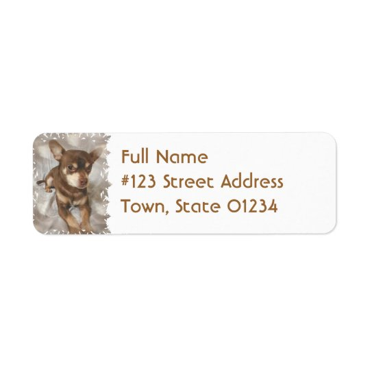 Chihuahua Dog Return Address Label