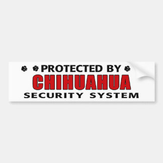 Chihuahua Dog Security Bumper Sticker