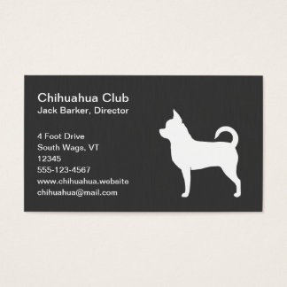 Chihuahua Dog Silhouette Business Card