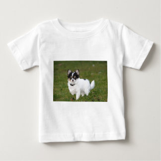 Chihuahua dog standing on a green lawn baby T-Shirt