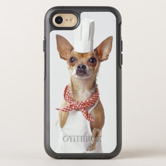 Chihuahua dog wearing chef's whites, studio shot OtterBox symmetry iPhone 8/7 case
