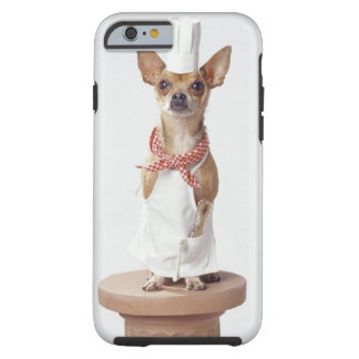 Chihuahua dog wearing chef's whites, studio shot tough iPhone 6 case