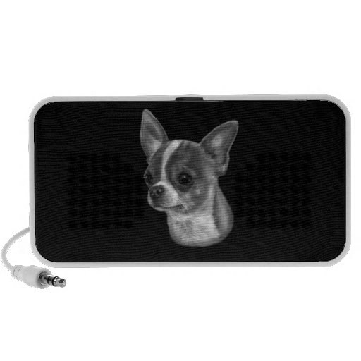 Chihuahua Drawing Notebook Speakers