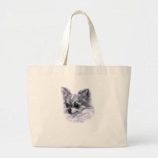 Chihuahua Drawing Canvas Bags