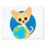 Chihuahua Earth Day 11 Cm X 14 Cm Invitation Card