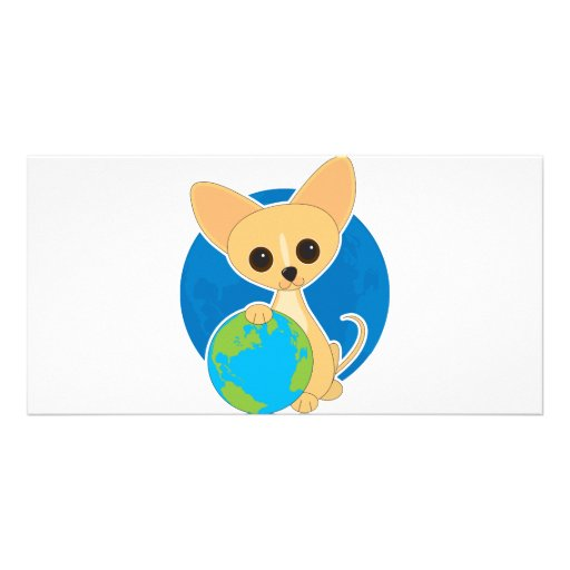 Chihuahua Earth Day Photo Card Template