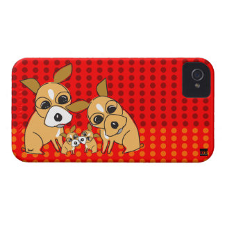 Chihuahua Family iPhone 4 Case-Mate Case