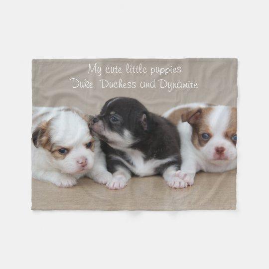 Chihuahua Fleece Blanket My Cute Little Puppies