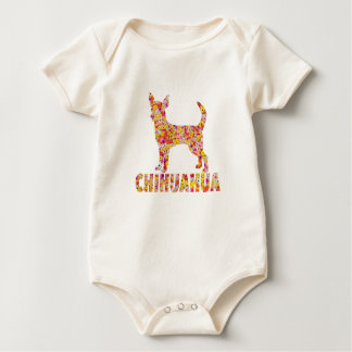 Chihuahua Floral Baby Bodysuit