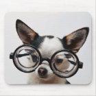 Chihuahua glasses - dog eyeglasses mouse mat