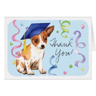 Chihuahua Graduate Card
