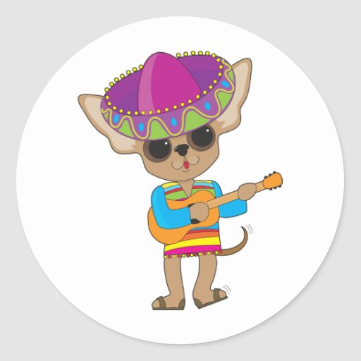Chihuahua Guitar Stickers