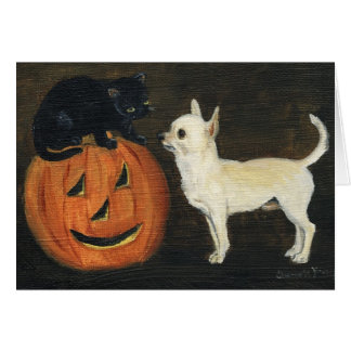 Chihuahua Halloween Art Note Card