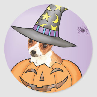 Chihuahua Halloween Round Stickers