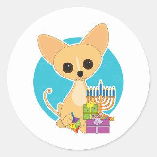 Chihuahua Hanukkah Classic Round Sticker