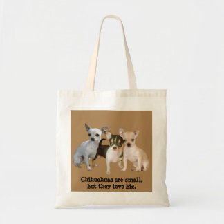 Chihuahua Happy Trio Tote Bag