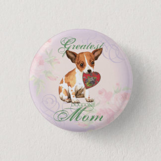 Chihuahua Heart Mom 3 Cm Round Badge