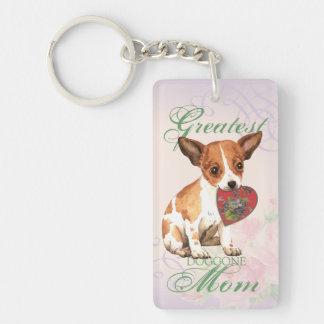 Chihuahua Heart Mom Double-Sided Rectangular Acrylic Key Ring
