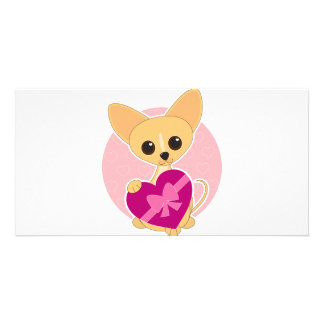 Chihuahua Heart Photo Card