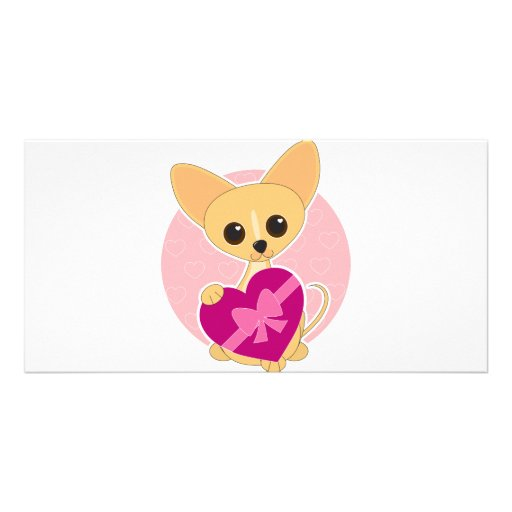 Chihuahua Heart Picture Card
