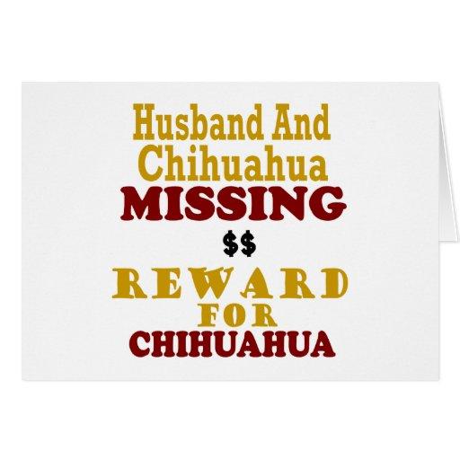 Chihuahua & Husband Missing Reward For Chihuahua Cards