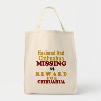 Chihuahua & Husband Missing Reward For Chihuahua Canvas Bag