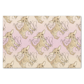 "Chihuahua I'm Kind of a Big Deal Graphic Design 10"" X 15"" Tissue Paper"