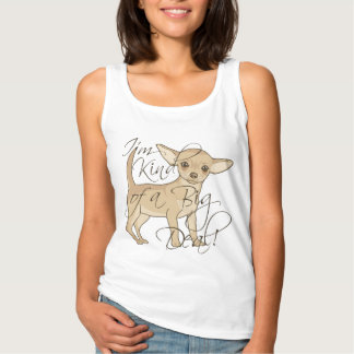 Chihuahua I'm Kind of a Big Deal Graphic Design Basic Tank Top