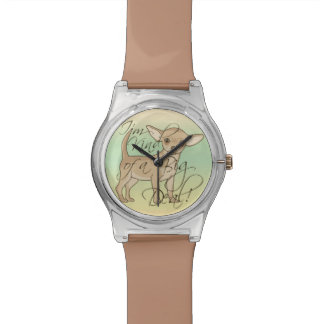 Chihuahua I'm Kind of a Big Deal Graphic Design Wristwatch