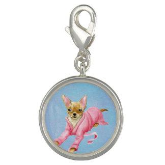 Chihuahua in a Bathrobe Dog Round Charm