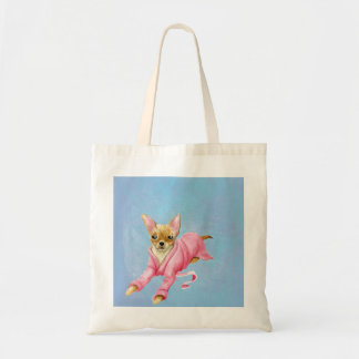 Chihuahua in a Bathrobe Dog Tote Bag