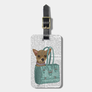 Chihuahua In Bag Luggage Tag