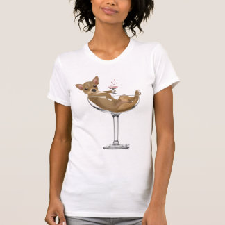 Chihuahua in Cocktail Glass T-Shirt