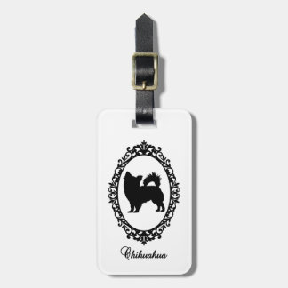 Chihuahua in mirror luggage tag