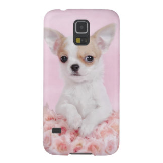 Chihuahua in pink with roses galaxy s5 covers