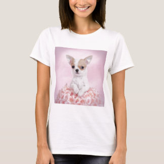 Chihuahua in pink with roses T-Shirt