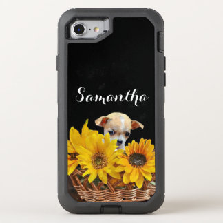 Chihuahua in sunflowers dog Otterbox phone OtterBox Defender iPhone 7 Case