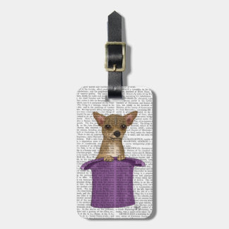 Chihuahua in Top Hat Luggage Tag