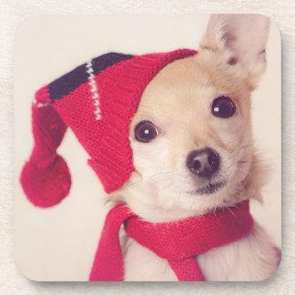 Chihuahua In Winter Cap Coaster