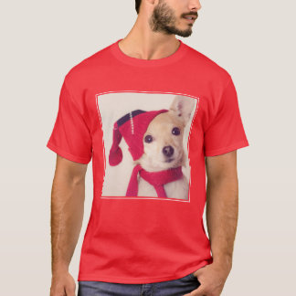 Chihuahua In Winter Cap T-Shirt