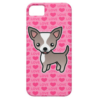 Chihuahua Lavender & White Smooth Coat Love Hearts iPhone 5 Case