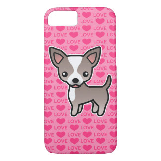 Chihuahua Lavender & White Smooth Coat Love Hearts iPhone 8/7 Case