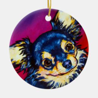 Chihuahua LC black and tan Christmas Ornament