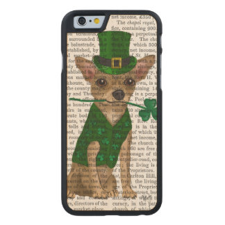 Chihuahua Leprechaun Carved Maple iPhone 6 Case
