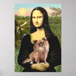 Chihuahua (LgHair-1) - Mona Lisa Print